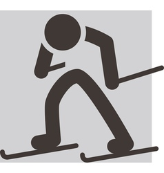 Cross country skiing icon vector