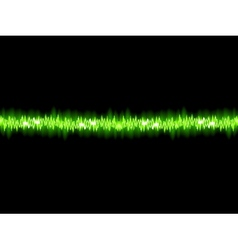 Green sound wave on white background  eps10 vector