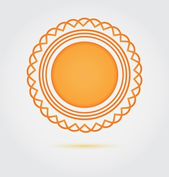 Abstract golden badge icon vector