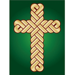Twisted christian holy cross vector
