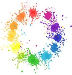 Color splatter vector