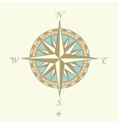 Compass windrows vector