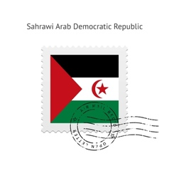 Sahrawi arab democratic republic flag postage vector
