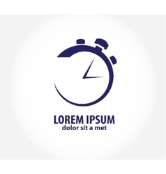 Clock time company logo design business vector