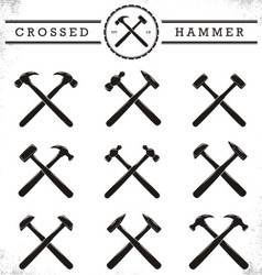 Crossed hammer vector