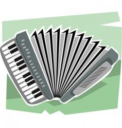 Hand harmonium vector