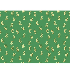 Pattern with currency signs vector