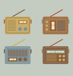Flat design vintage radio vector