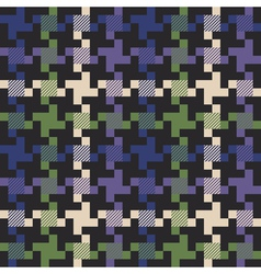 Checkmulti colored houndstooth fabric vector