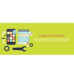 Crash test phones vector