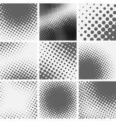 Set of dotted abstract forms vector