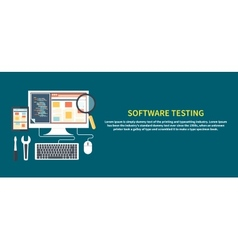 Software testing concept vector