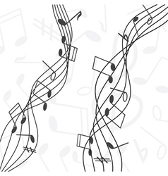 Musical notes staff vector