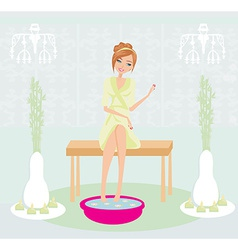 Relax in the beauty salon vector