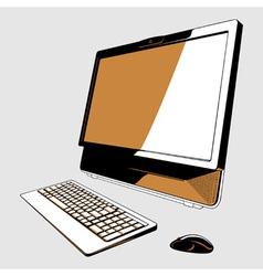 Desktop pc vector