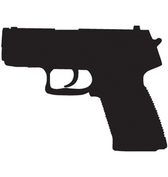 Compact pistol outline vector