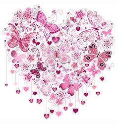 Valentine pink big heart vector