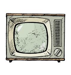 Vintage tv set vector