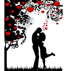 Valentine's couple vector