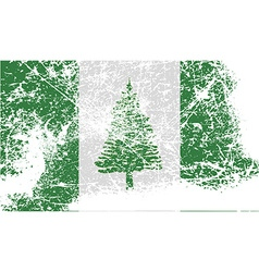Flag of norfolk island with old texture vector