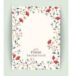 Retro beautiful flower banner vector