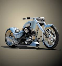 Bike real hand made vector