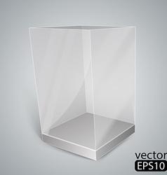 Black glass rectangle box vector