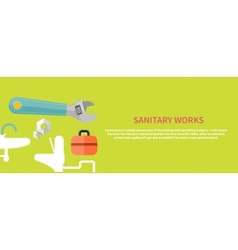 Sanitary works vector