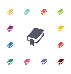 Book bookmark flat icons set vector