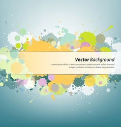 Colorful ink painting background vector