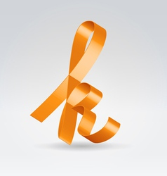Silk ribbon letter abc vector