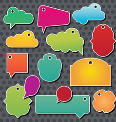 Collection of info speech clouds vector