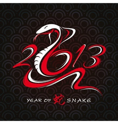 New year card with snake vector