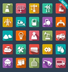 Industry icons - flat design vector