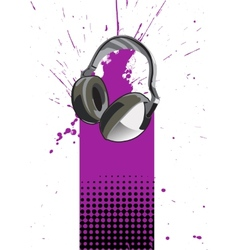 Headphone poster vector