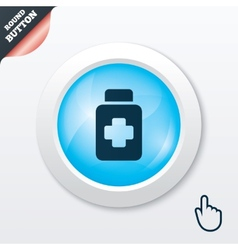 Drugs sign icon pack with pills symbol vector