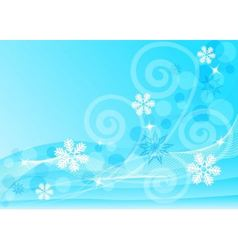 Abstract blue background with snowflakes vector