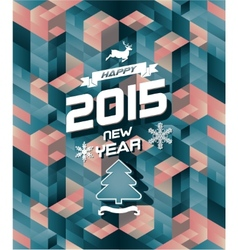 Abstract retro modern happy new year background vector