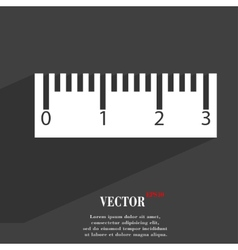Ruler icon symbol flat modern web design with long vector