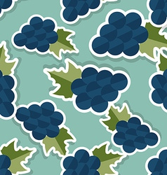 Grape pattern seamless texture with ripe grape vector