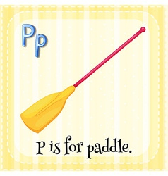 A letter p vector