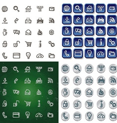 Icons sketches for the site vector