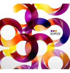 Colorful abstract swirl background vector