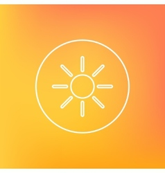 Outline icon of sun vector