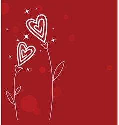 Valentines love flower vector