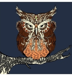 Brown owl vector