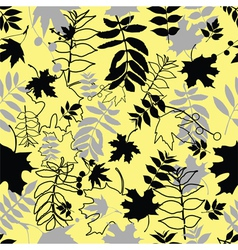 Seamless black leaves vector