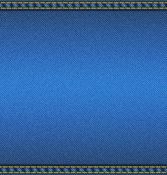 Denim fabric texture with two seams fabric vector