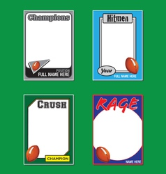 Football cards vector