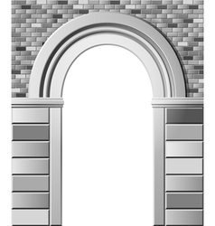 Entrance with arch monochrome template vector